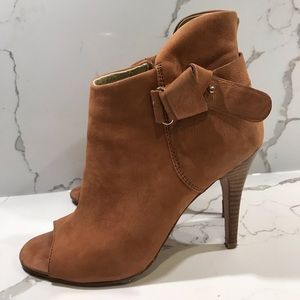 Aldo Open Toe High Heel Bootie Gorgeous Leather
